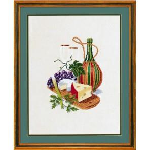 Сыр и красное вино Набор для вышивания Eva Rosenstand 12-603