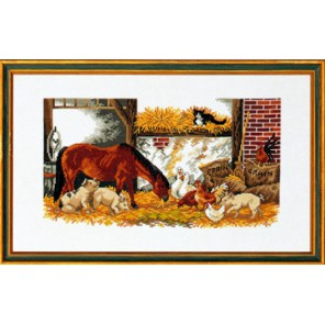 Лошадь, поросята и куры Набор для вышивания Eva Rosenstand 14-141