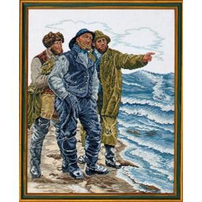 Надвигающийся шторм (рыбаки) Набор для вышивания Eva Rosenstand 12-566