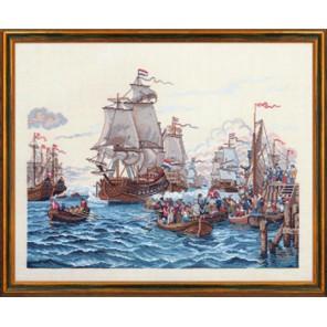 Люди в шлюпках приветствуют флот Набор для вышивания Eva Rosenstand 12-794
