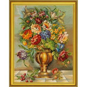 Цветы в бронзовой вазе Набор для вышивания Eva Rosenstand 12-587