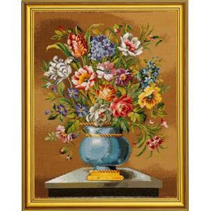 Голубые цветы в вазе Набор для вышивания Eva Rosenstand 14-163