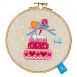 с пяльцами Торт на день рождения II Набор для вышивания Vervaco PN-0150917
