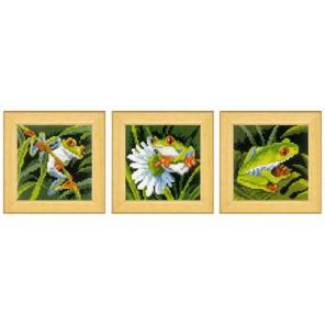 Красноглазые древесные лягушки Набор для вышивания Vervaco PN-0147135