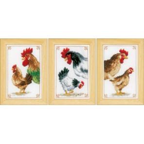 Петух и курица Набор для вышивания Vervaco PN-0150143