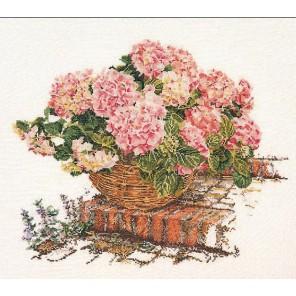 Розовые Гортензии Набор для вышивания Thea Gouverneur 2047A