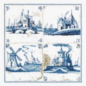 Старинная плитка, деревни Набор для вышивания Thea Gouverneur 484