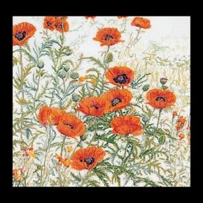 Оранжевые маки Набор для вышивания Thea Gouverneur 2062
