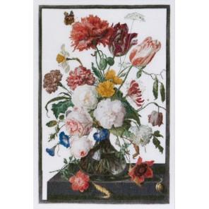 Цветы в стеклянной вазе Набор для вышивания Thea Gouverneur 785