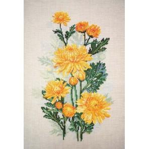 Желтые хризантемы Набор для вышивания Марья Искусница 04.004.06