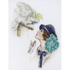 Дама с попугаем по картине Фишера Набор для вышивания Марья Искусница 06.004.02
