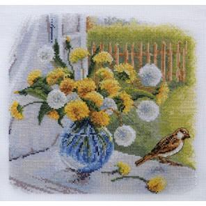 Время цветения одуванчиков по рисунку О. Воробьевой Набор для вышивания Марья Искусница 04.005.12