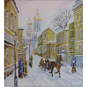Зимняя улочка по картине И. Морозова Набор для вышивания Марья Искусница 02.007.01