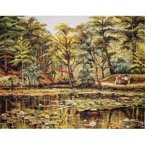 Пруд с лилиями Набор для вышивания Марья Искусница 06.003.04