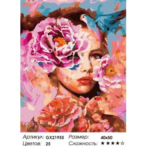 Весна в Душе женщины Раскраска картина по номерам на холсте GX21955