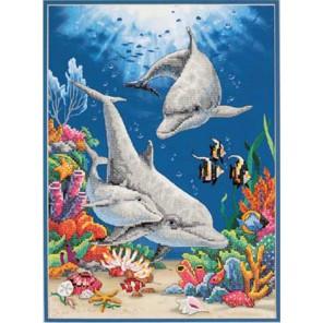 Игривые дельфины 13138 Набор для вышивания Dimensions ( Дименшенс )