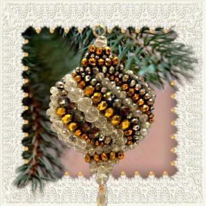 Новогодний шар Набор для вышивания хрустальными бусинами, магнит СТУДИЯ ВЫШИВКИ