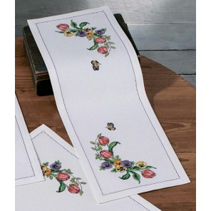 Тюльпаны Набор для вышивания дорожки PERMIN