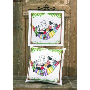Мечтательная корова Набор для вышивания подушки PERMIN