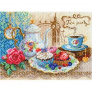 Время пить чай Набор для вышивания крестом и бисером МАТРЕНИН ПОСАД