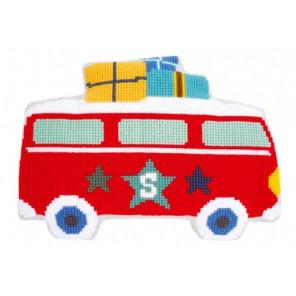 Каникулы на автобусе Набор для вышивания подушки VERVACO