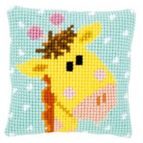 Маленький жираф I Набор для вышивания подушки VERVACO
