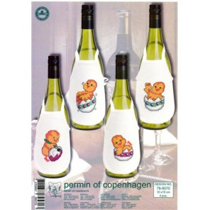 Цыплята Набор для вышивания фартучков на бутылку PERMIN