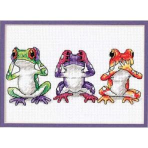 Трио древесных лягушек 16758 Набор для вышивания Dimensions ( Дименшенс )