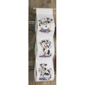 Счастливая корова Набор для вышивания держателя для туалетной бумаги PERMIN