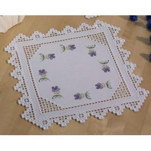 Фиалки Набор для вышивания в технике Хардангер скатерти PERMIN