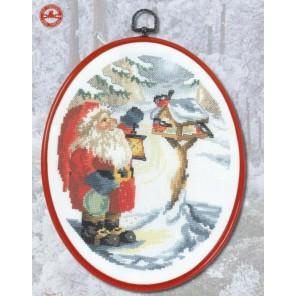 Санта и снегири Набор для вышивания PERMIN