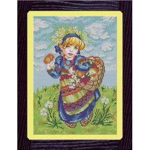 Девочка с лукошком Набор для вышивания бисером GALLA COLLECTION