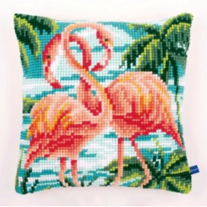 Фламинго Набор для вышивания подушки VERVACO