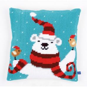 Рождественский мишка Набор для вышивания подушки VERVACO