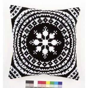 Черное и белое Набор для вышивания подушки VERVACO