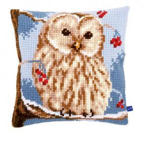 Зимняя сова Набор для вышивания подушки VERVACO