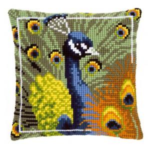 Гордый павлин Набор для вышивания подушки VERVACO