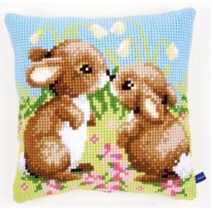 Маленький кролик Набор для вышивания подушки VERVACO
