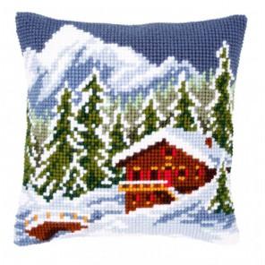 Зимний пейзаж Набор для вышивания подушки VERVACO