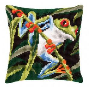 Древесная лягушка на ветке Набор для вышивания подушки VERVACO