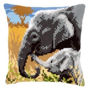Любовь слонов Набор для вышивания подушки VERVACO