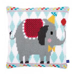 Цирковой слон Набор для вышивания подушки VERVACO