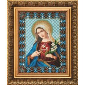 Непорочное сердце Марии Набор для вышивания бисером Чаривна Мить