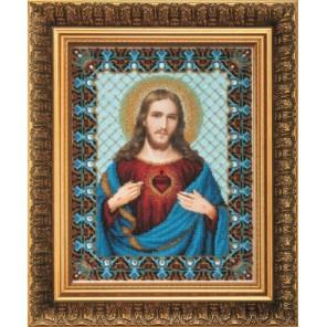 Пресвятое Сердце Иисуса Набор для вышивания бисером Чаривна Мить