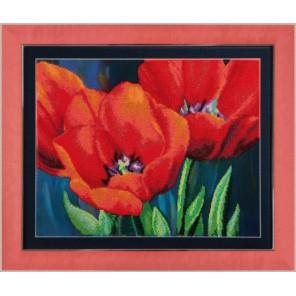 Вечерние тюльпаны Набор для вышивания бисером Чаривна Мить