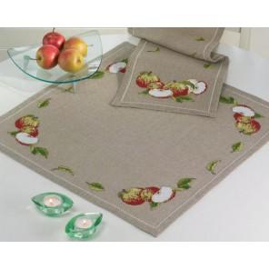 Яблоки Набор для вышивания скатерти PERMIN