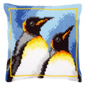 Королевские пингвины Набор для вышивания подушки VERVACO