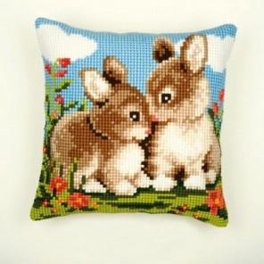 Кролики Набор для вышивания подушки VERVACO