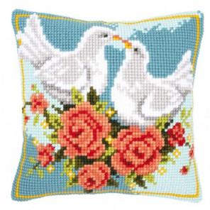 Влюблённые голуби Набор для вышивания подушки VERVACO