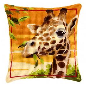Жираф Набор для вышивания подушки VERVACO